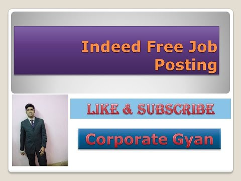 Free Indeed Job Posting #RecruitmentTips #FreeJobPosting