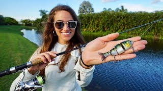 Sight Fishing with EXCLUSIVE Lure in Clear Water Canal