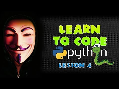 Learn Python Programming For Hackers - Lesson 4 - User Input