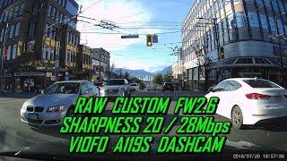 A119S Dash Cam RAW Modified FW2.6 Sharpness20