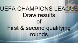 Results of UEFA Champions league 2014/15 First & second qualifying round draw