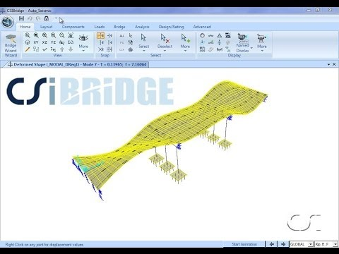 CSiBridge - 06 Automated Seismic Design: Watch & Learn