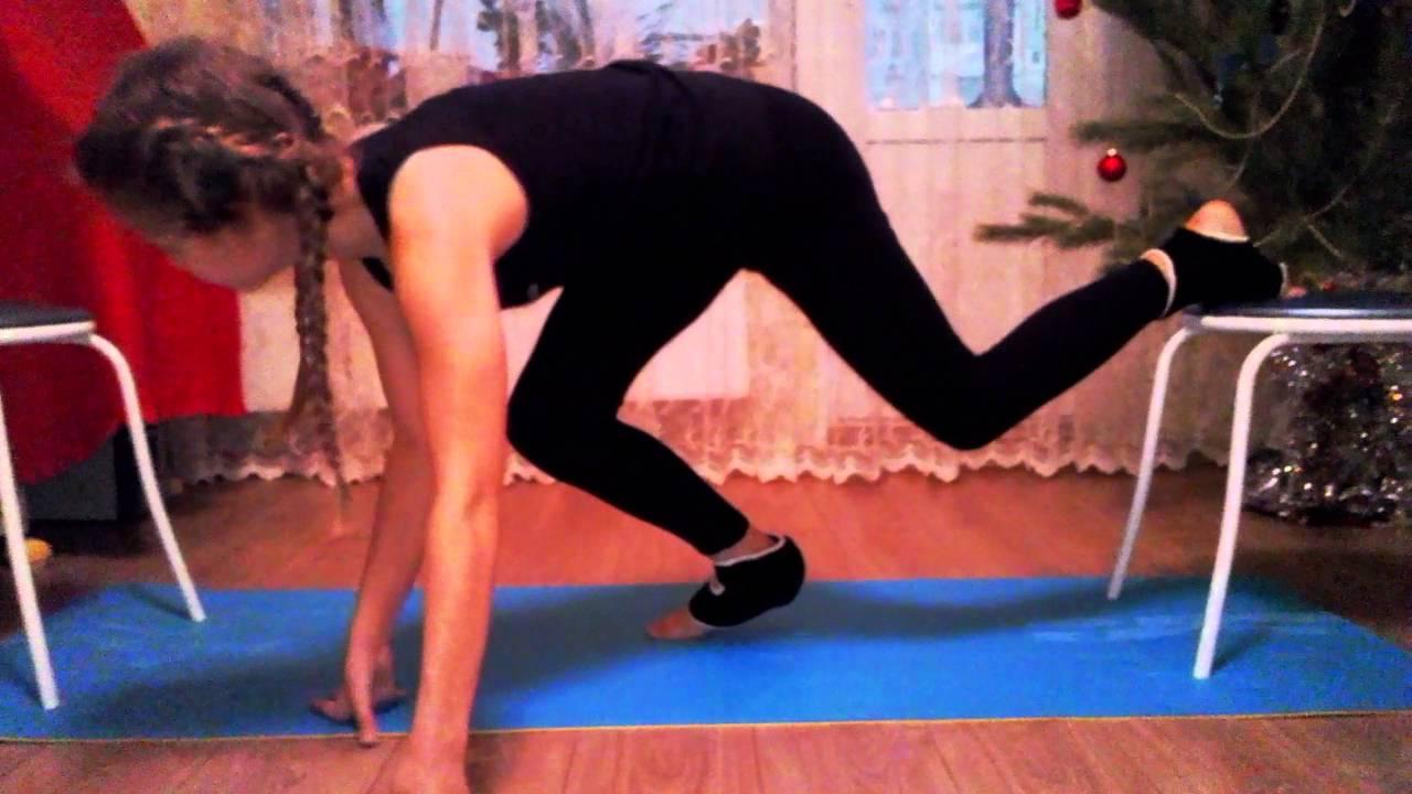 21 Гимнастки видео шпагат
