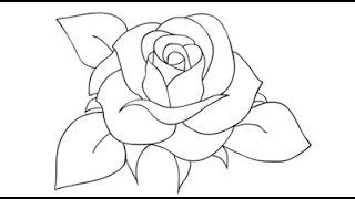 How to Draw a Rose Step by Step Video | Drawing Roses for Beginners | Draw a Rose for Kids