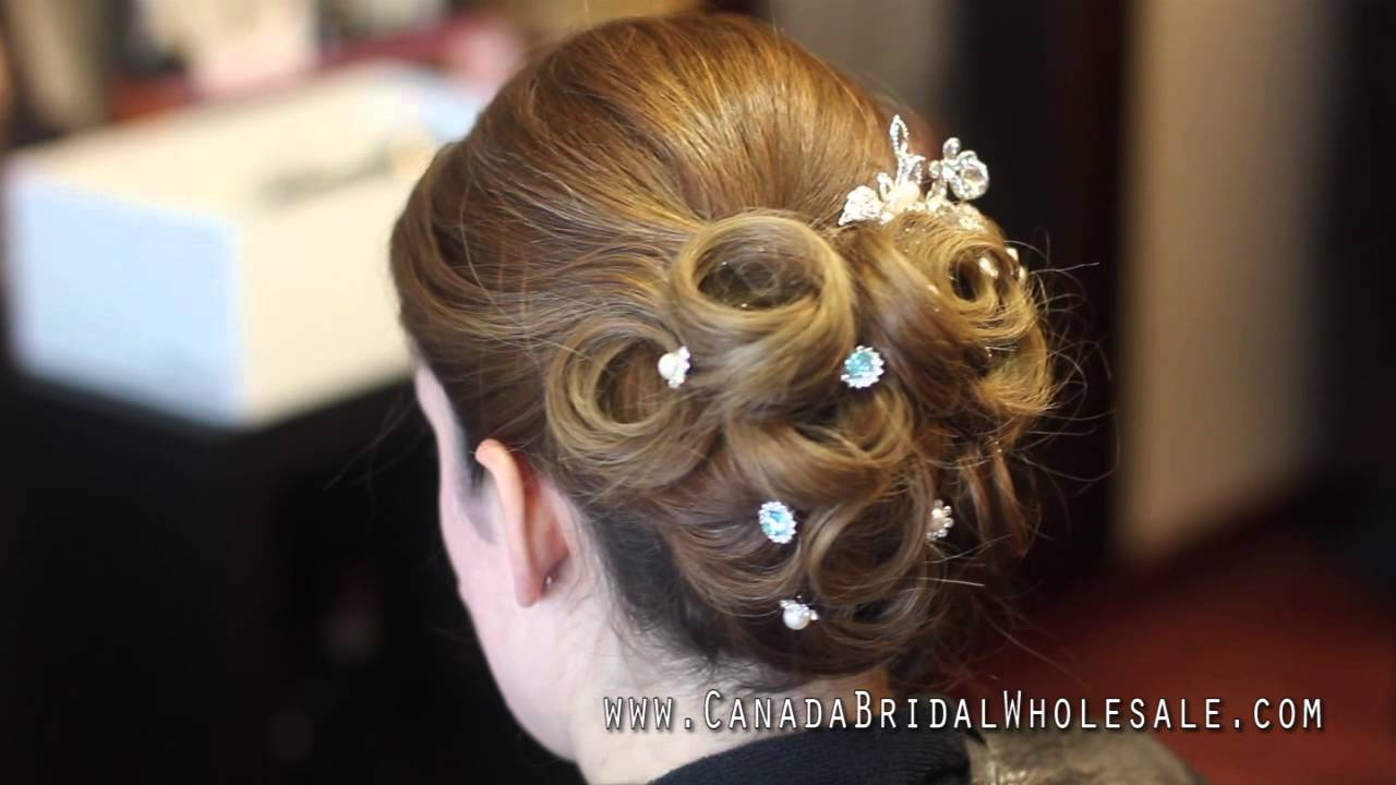 bridal hair pins how to up-do. crystal hair pins & tiaras from