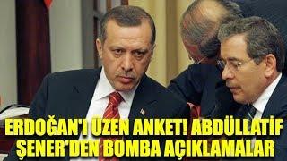Erdoğan'ı üzen anket! Abdüllatif Şener'den bomba açıklamalar
