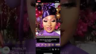 Megan Thee Stallion Q&A Instagram Live August 7, 2020