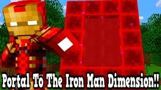 Minecraft How To Make A Portal To The Iron Man Dimension - Iron Man Dimension Showcase!!!