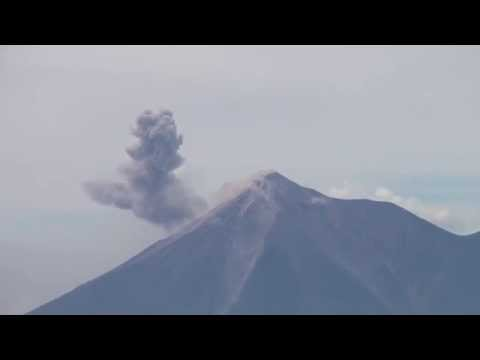 Volcano Erupting Ash near Volcano Pacaya in Guatemala