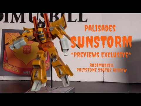 Transformers SUNSTORM Polystone Mini Statue *Previews Exclusive* Review