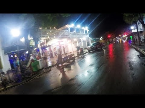 Pre-Hurricane Bike Ride Duval Street, Key West, Florida