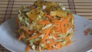 Салат из свежей капусты. Мечта худеющих.