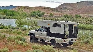Couple Sells Home to LIVE in TRUCK CAMPER and AUSTRALIA - BUNDUTEC ALUMI LINE FLAT BED WALK AROUND