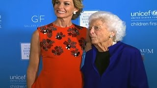 Barbara Bush Jokes About Her Age at UNICEF Event