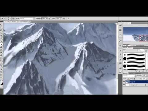 How To Draw Rocky Mountains Speed Paint Youtube