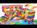 - DIY - Build Miniature Mega Mansion Has Swimming Pool For Hamster With Magnetic Balls Satisfying