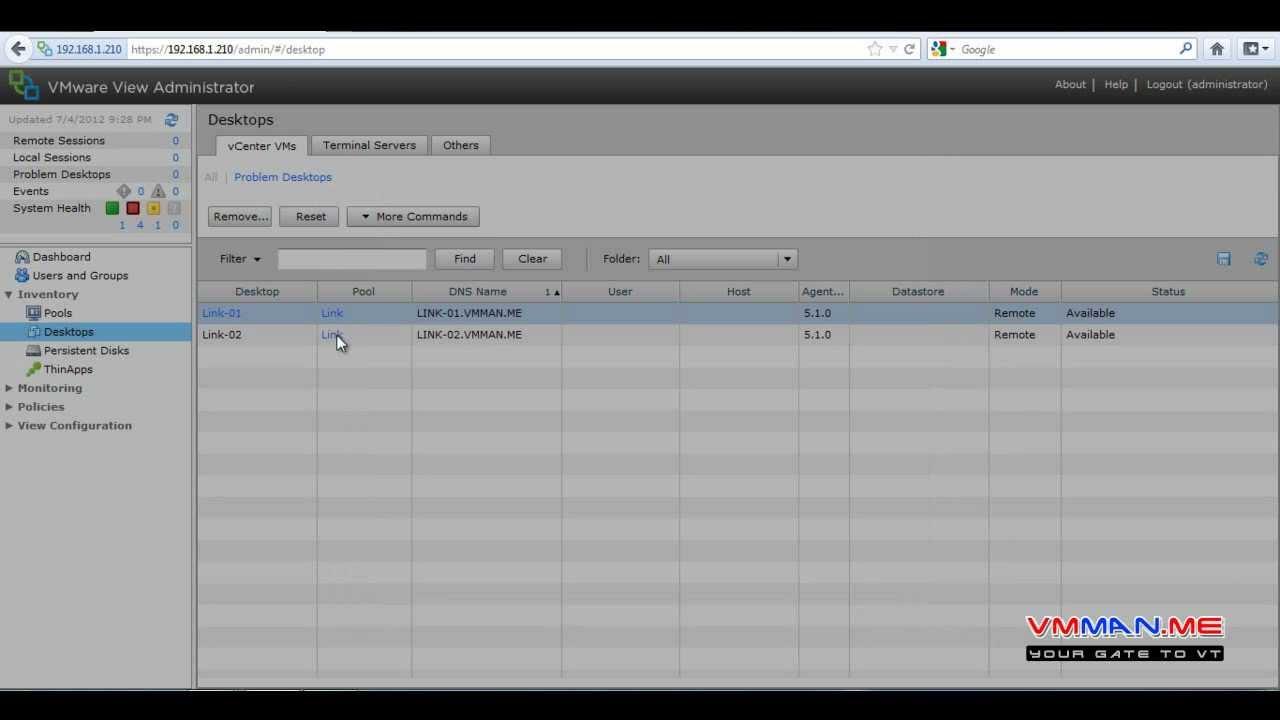 Part 15 : VMware View 5 Kiosk Mode