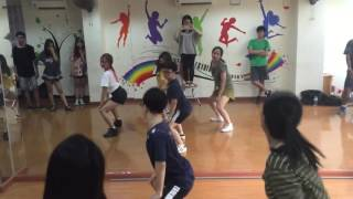 Oops! Crew Whistle dance practice