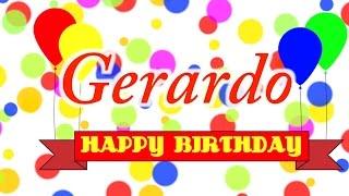Happy Birthday Gerardo Song