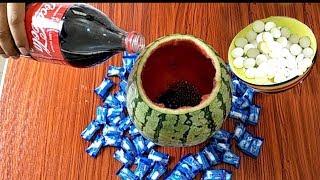 Coca Cola & Watermelon vs  Salt And Mentos Fail
