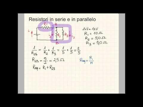 Circuiti elettrici serie e parallelo