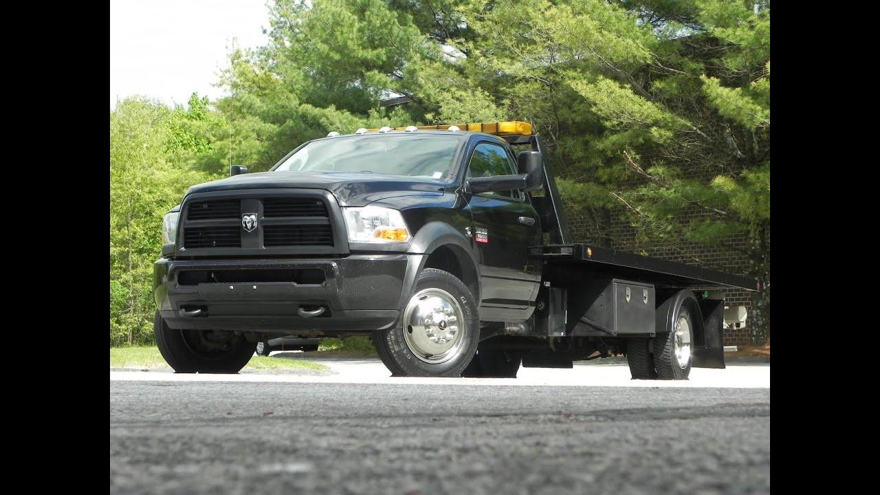 2012 Dodge Ram 5500HD Roll Back Tow Truck 6 7L Cummins Diesel
