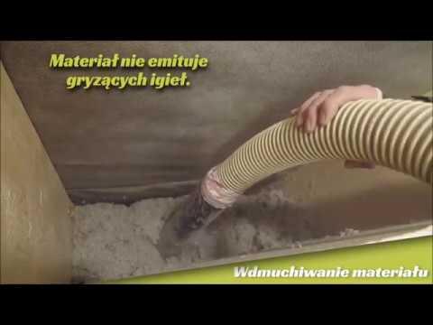 Ocieplenie celulozą fińskiej marki Termex - wdmuchiwanie w poddasze