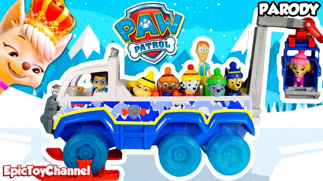 PAW PATROL Snow Rescue Pups Go From Paw Patrol Mission Paw