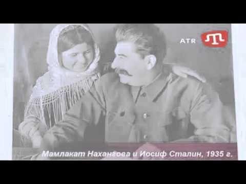 Crimean Tatars destroying Stalin exhibition