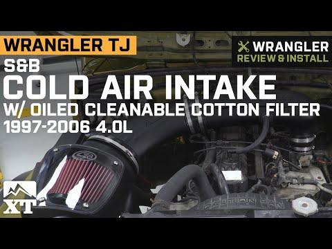wrangler tj s&b cold air intake w/ oiled cleanable cotton filter (1997-2006  4 0l) review & install - youtube