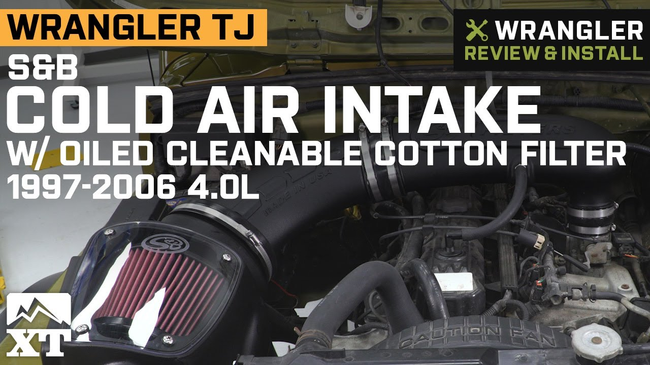 wrangler tj s&b cold air intake w/ oiled cleanable cotton filter (1997-2006  4 0l) review & install