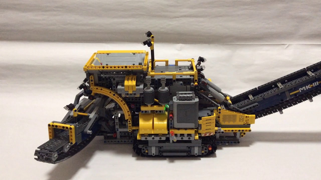 Lego 42055 B Model Mobile Aggregate Processing Plant Youtube