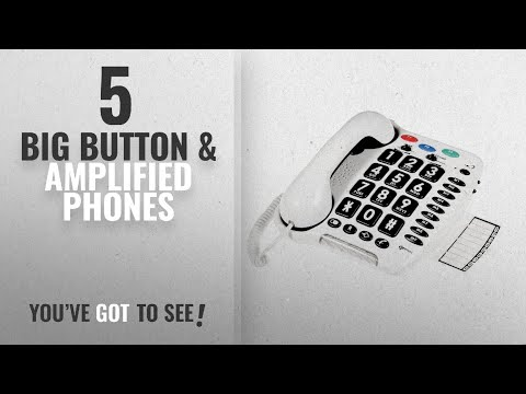 Top 10 Big Button & Amplified Phones [2018]: Geemarc CL100 Loud Big Button Corded Telephone- UK