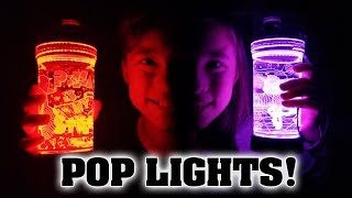 AMAZING POP LIGHTS!!! Juggling Light Up Water Bottles!