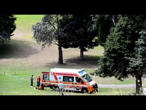 Golf Kart ribaltato nel campo golf di Sanremo interviene l'elicottero