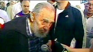 فيدال كاسترو يؤدي واجبه الانتخابي في هافانا ويتحدث...