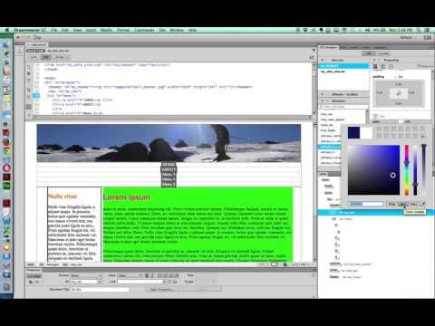 Dreamweaver CC Nav Drop Down Menu CSS