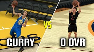 CAN STEPHEN CURRY HIT A FULL COURT SHOT BEFORE A 0 OVERALL HITS A THREE? NBA 2K17 GAMEPLAY!