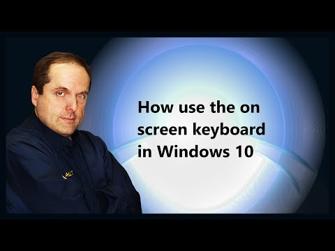 How use the on screen keyboard in Windows 10