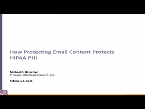 How Protecting Email Content Protects HIPAA PHI