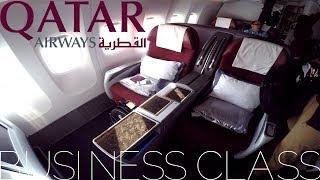Qatar Airways BUSINESS CLASS Amsterdam To Doha|Boeing 777-300ER