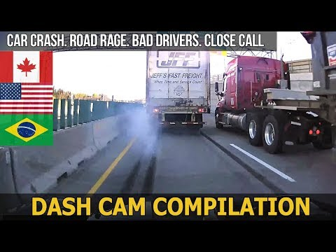 Dash Cam Compilation (USA, Canada, Brazil) Car Crashes in America 2017 # 60