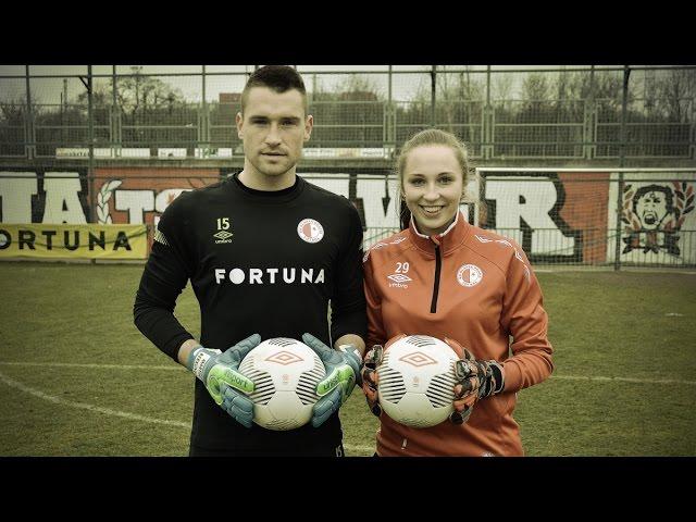 ŽENY vs. MUŽI: Votíková vs. Berkovec - SK Slavia Praha - crossbar challenge