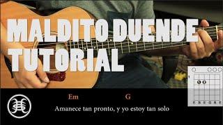 """Como tocar """"Maldito Duende"""" de Héroes del Silencio - Tutorial Guitarra (HD)"""