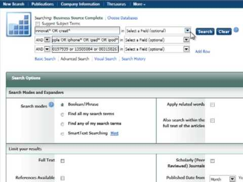 Tips on Searching Business Journals with the Use of Business Source Complete