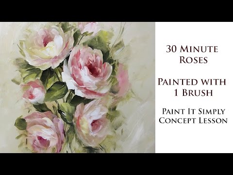 30 Minute Roses with 1 Brush