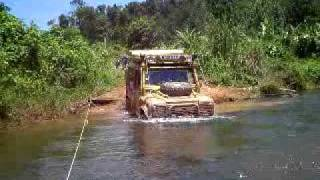 Land Rover Deep Water wading in Cambodian jungle!!!