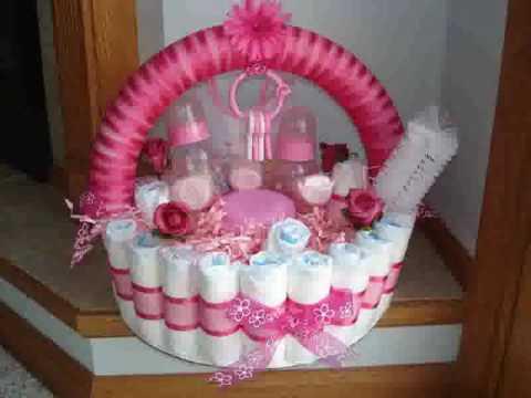 Baby Shower Diaper Cakes For Girls Youtube