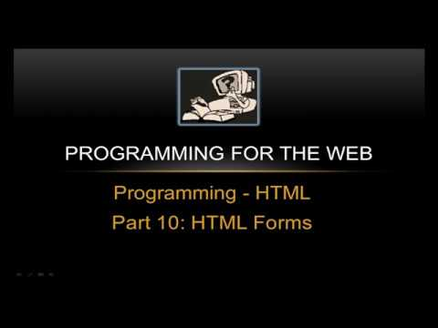 HTML FORMS - Programming For The Web
