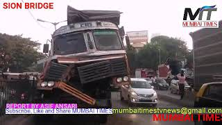 MUMBAI TIMES: Major accident at Sion hospital bridge this morning 6:20am tow people injured Traffic.